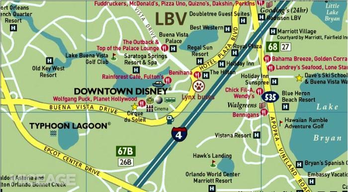 New Tourist Map of Orlando WDWMAGIC Unofficial Walt Disney World