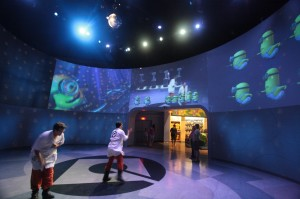 Exit dance room at Despicable Me