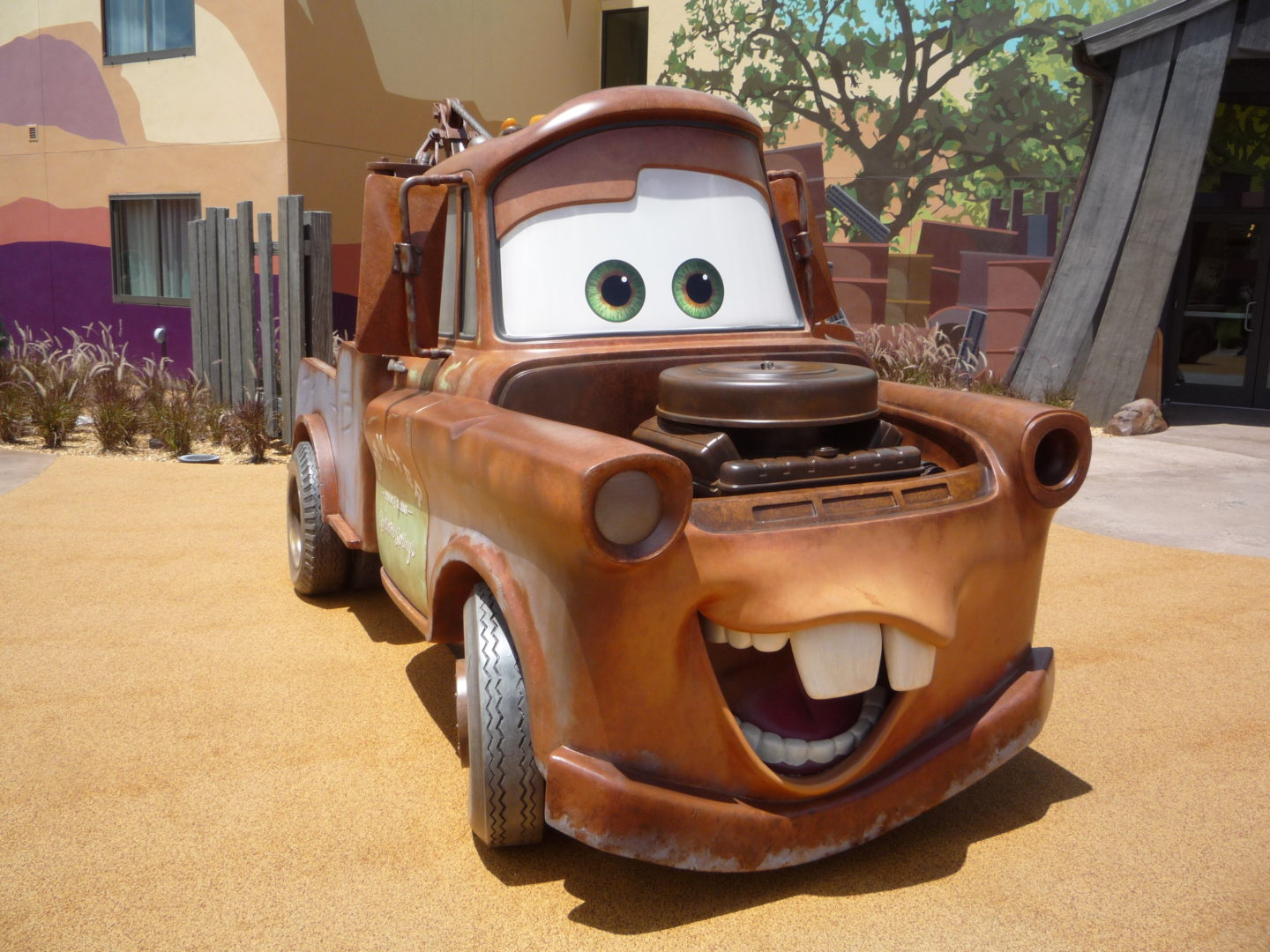Cars section of Art of Animation