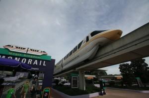 Monorails make inter-park travel fun.