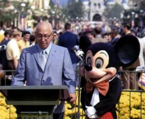 Roy Disney at Disney World in 1971
