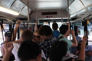 The busses are, um, crowded.