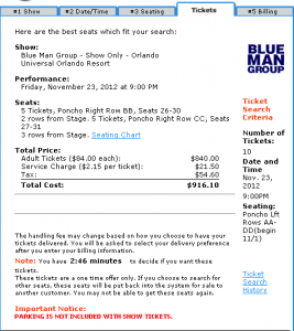 Blue Man Group 10 seats front row Friday