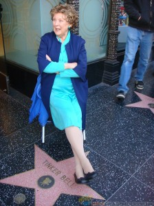 Margaret on Hollywood sidewalk