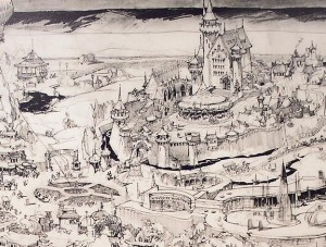 Herb-Ryman-Disneyland-Map-Fantasyland-enlarged
