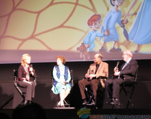 Kathryn, Margaret, Ted and Leonard Maltin on Stage