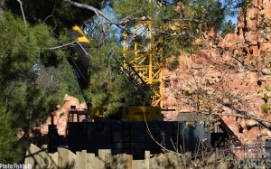 You can clearly see the base of the large crane parked on Big Thunder Trail.