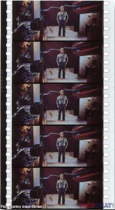 "Five frames of Showscan 70mm film from the 1983 production ""New Magic."" Because 60 frames are running through the projector each second, these images account for 1/12 of a second of the complete film."