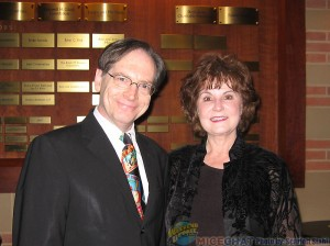 Linda Swisher and Jerry Beck (Vice President of ASIFA-Hollywood)