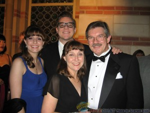 Mark Henn (Winsor McCay Award recipient and wife, Debbie ,with their two grown children