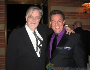 Matt Groening (creator of  two television series,  The Simpsons and Futurama) with David Derks (ASIFA-Hollywood Board Member)