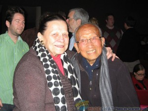 Alice Davis (Disney Legend and Imagineer with a window on Main Street at Disneyland) and Tyrus Wong (Disney Legend and painter, muralist, ceramicist, lithographer, designer and kite maker, and 102 years young)