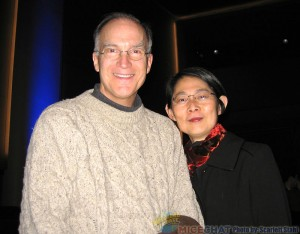 Ted Thomas (director, writer, musician) with wife, Kuniko