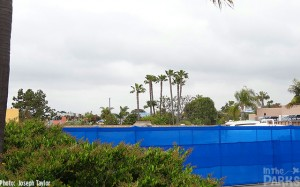 "All of the entrance buildings have been taken out, and by this time next year, a giant wave will be placed here as our ""portal"" into Explorer's Reef."