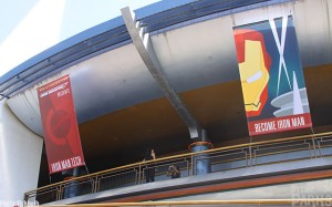 New banners are hung from the outside of Innoventions.