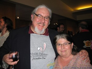 Tom Sito (board member ASIFA-Hollywood, professor of animation at USC, animator and author) with his wife Pat, who also worked on Roger Rabbit with her husband