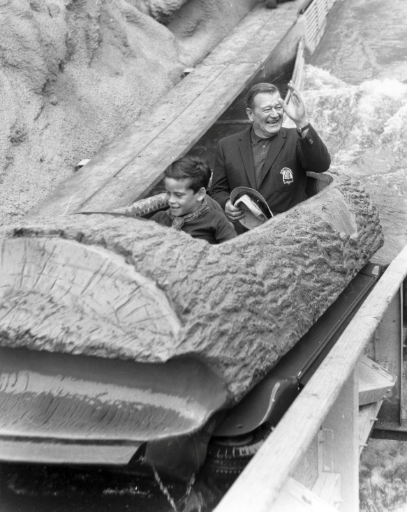 Here's a great picture of Ethan and his father riding the log ride on the 1969 opening day.