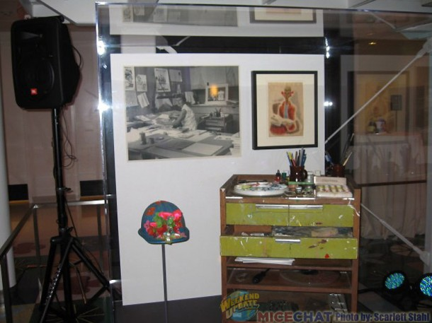 Mary Blair's work bench donated by her nieces, Maggie Richardson and Jeanne Chamberlain to the WDF Museum.