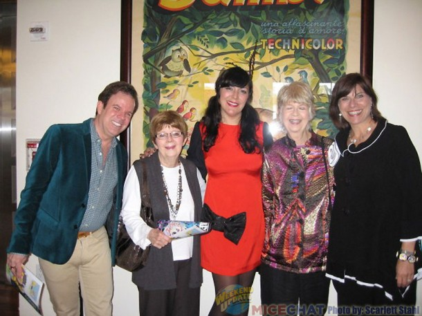 Kevin and Jeanne Chamberlain, Camille Rose Garcia, and Gabriella Calicchio, (CEO of the Walt Disney Family Museum.