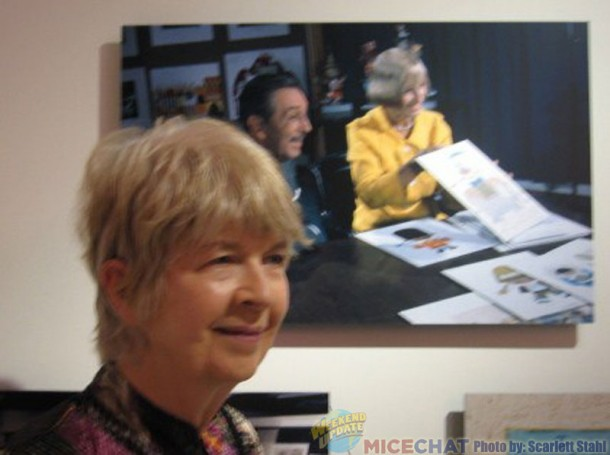 Maggie Richardson with a picture of her aunt, Mary Blair.