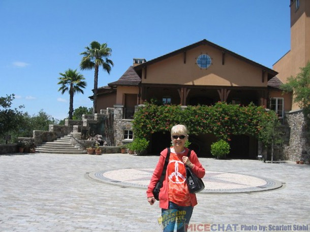 Maggie Richardson in front of Silverado Winery.