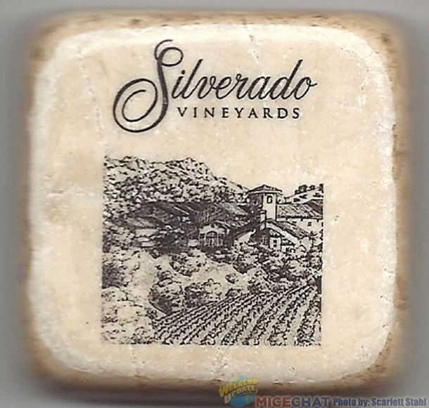Silverado magnet made of tumbled marble, avaiable from the gift shop.