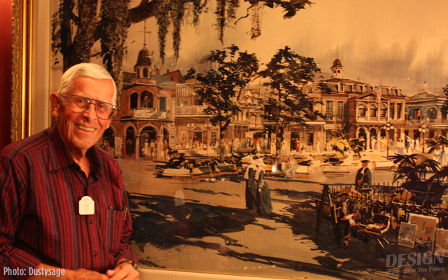 Bob poses in front of one of Herbie's pieces inside Club 33