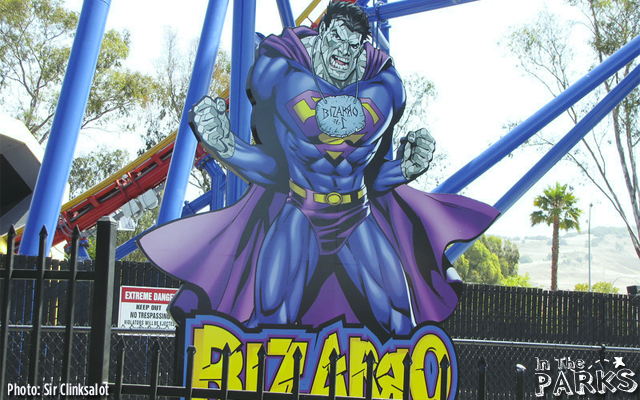The queue is adorned with Superman related themeing similar to other Superman coasters in the Six Flags chain.