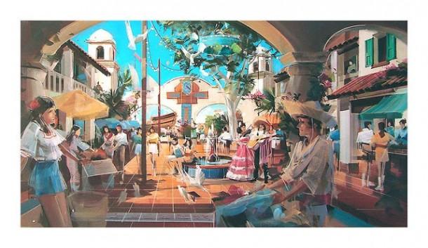 Plaza Scene