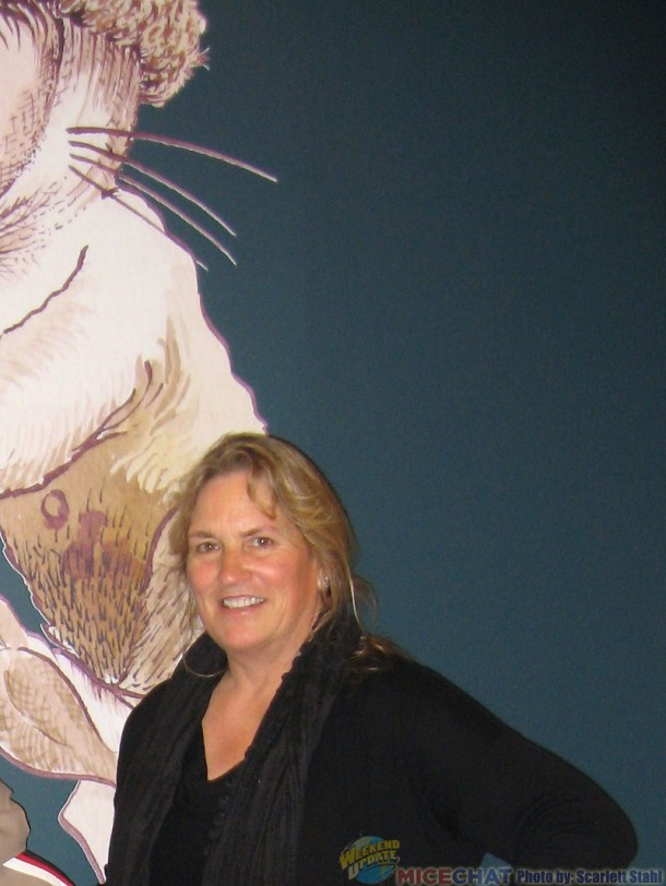 Joann Miller at the Maruice Sendak exhibit