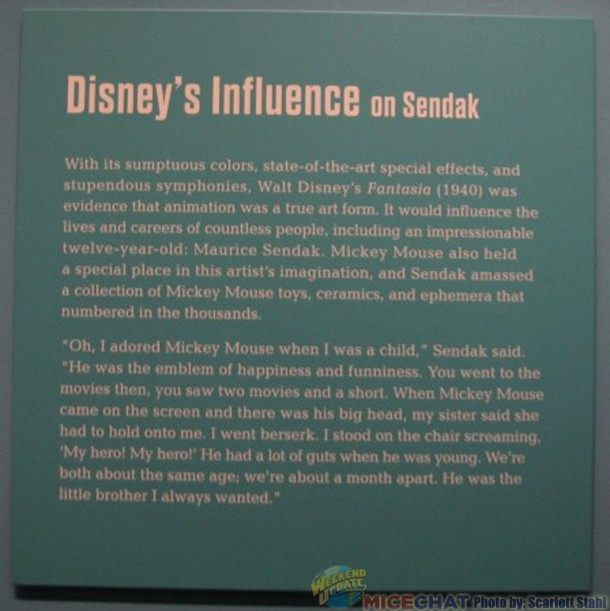 Information re: Walt Disney's influence on Maurice Sendak