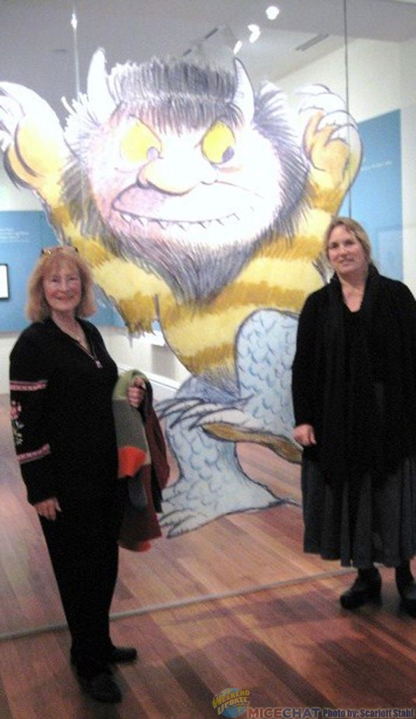 "Scarlett Stahl and Joanna Miller shown with ""Where the Wild Things Are"" picture"