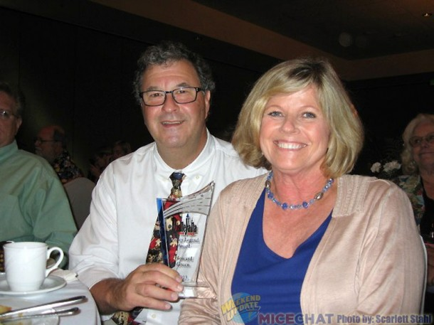 Howard Green with his wife, Steinunn and his DFC award