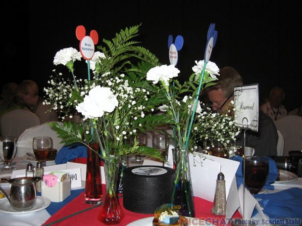 The centerpieces had the names of the new Legends
