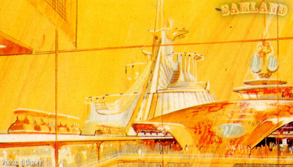 John Hench's concept art for Space Mountain