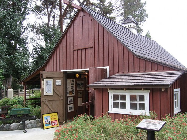 Walt Disney's Carolwood Barn in Griffith Park. Courtesy Wikipedia.