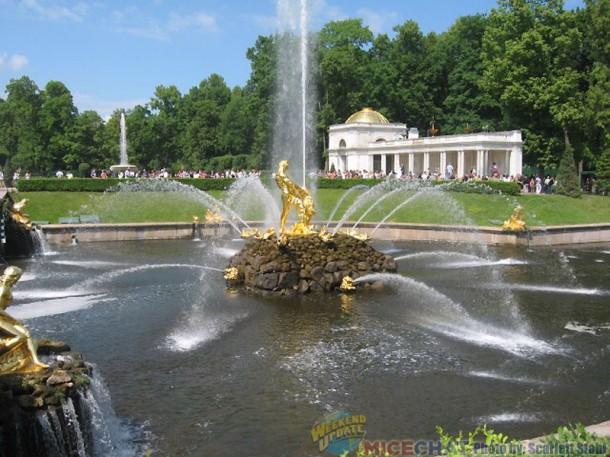Fountains abound