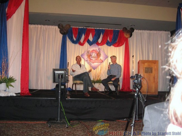 Bruce Reitherman and Allan Halcrow, moderator of the event