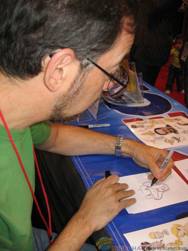 Animator Nik Ranieri drawing Jessica Rabbit ( Nik is well known for Lumere, Charlotte La Bouff and many others)