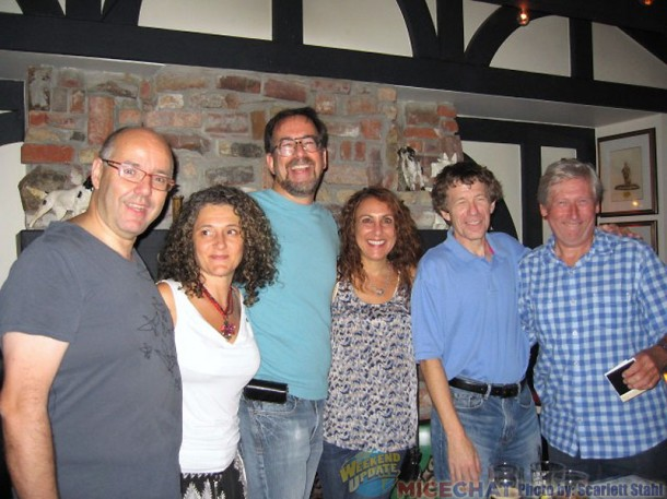 L-R Raul Garcia, Silvia Pompeii (from Italy, assistant animator, also Ferngully and Mrs. Doubtfire), Nik Ranieri ( animator, also Lumiere in Beauty & Beast), Irene Parkins ( Sito's assistant on Roger, now animator , Kung Fu Panda, How to Train your Dragon), Steve Hickner ( assistant production manager then, later on Mermaid, and director of animation on Jerry Seinfelds Bee Movie.),Max Howard, Producer on Roger Rabbit, later VP of Disney's Orlando Animation Studio and a co-producer of The Lion King, Space Jam and Spirit, Stallion of the Cimarron)