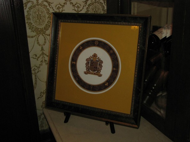 Plate of The Society members inside Club 33