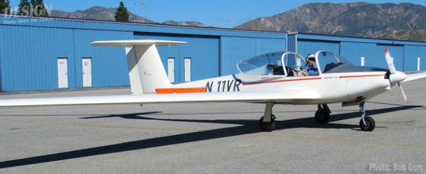 1985 German-made Taifun two place motorglider