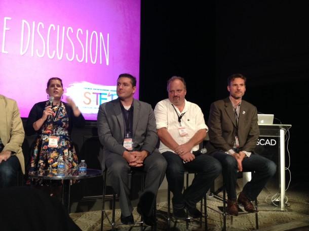 MK Haley, Paul Kent and Aram Ebben at Technology Roundtable