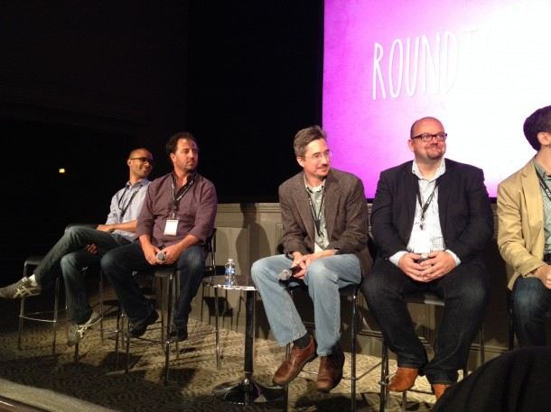 Asa Kalama, Chris Conte, Mark Gilicinski, and David Gray at the Technology Roundtable