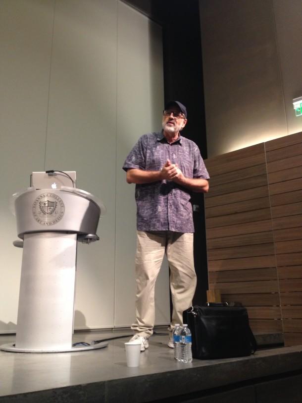 George Head addresses the audience