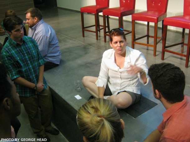 MK HALEY talks with SCAD students