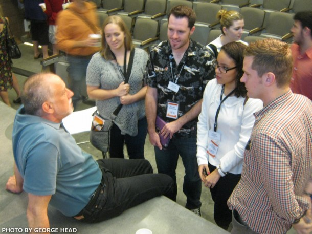 Phil Hettema talks with SCAD students