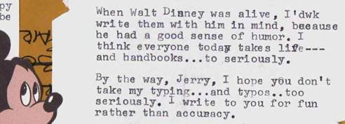 ABOUT TYPOS AND WALT
