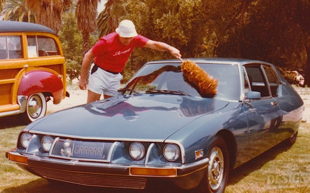 Bob Gurr dusting his 1971 Citroen Maserati show car