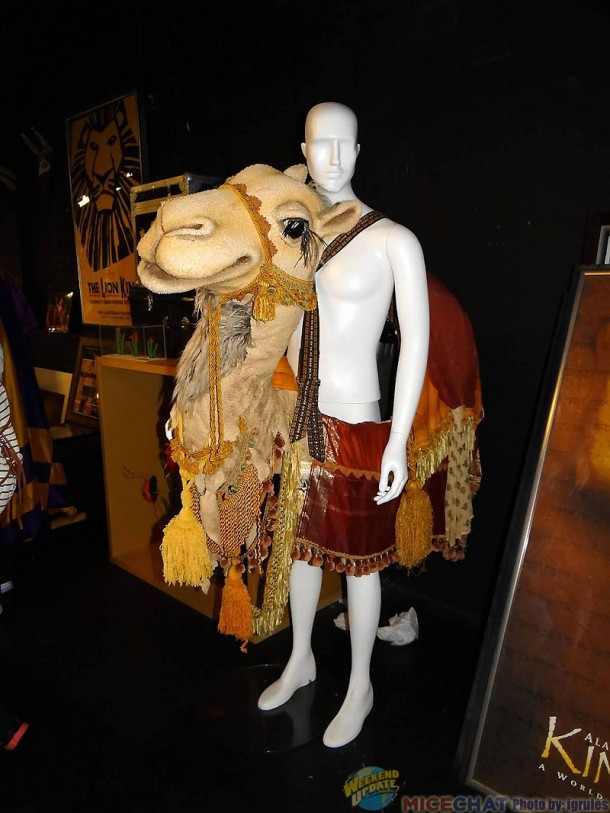 A prototype camel for the Aladdin show.